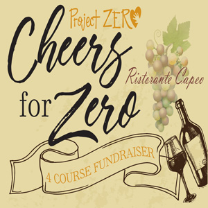 Cheers for zero, A 4 course fundraiser